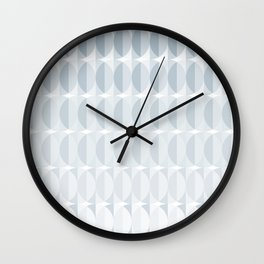 pattern leaves in the mist (ice gray) Wall Clock