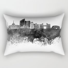 Astana skyline in black watercolor Rectangular Pillow