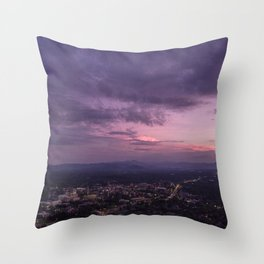 Asheville Stormy Nights Passing By Throw Pillow