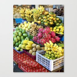 Bali Fruit Stand Canvas Print