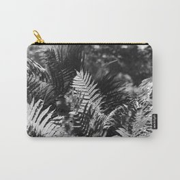 Ostrich Fern in Black and White Carry-All Pouch