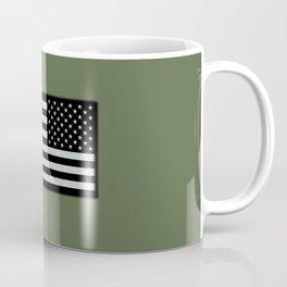 IR U.S. Flag on Military Green Background Coffee Mug