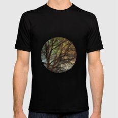 Psychadelic Tree Black MEDIUM Mens Fitted Tee