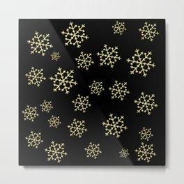 Golden Snowflakes Metal Print