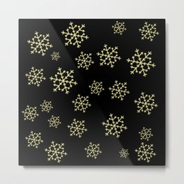 Golden Snowflakes Metal Print
