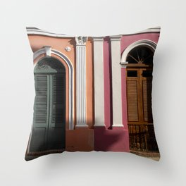 two houses in Puerto Rico Throw Pillow