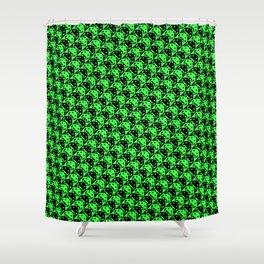 invaderstooth pattern Shower Curtain