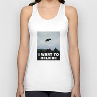 i want to believe Tank Tops featuring I want to believe by SIMid