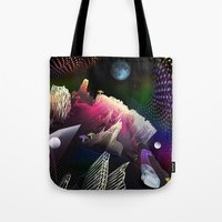 hologram Tote Bags featuring Moonlight Drive by Antonio Jader