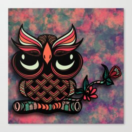 Owl Tangle Canvas Print