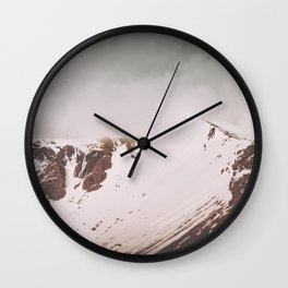 Into the mountains II Wall Clock
