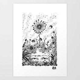 When The Plants Won Art Print