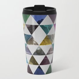 Colorful triangle pattern  Metal Travel Mug
