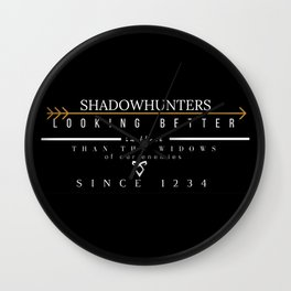 THE MORTAL INSTRUMENTS // QUOTE // SHADOWHUNTERS Wall Clock