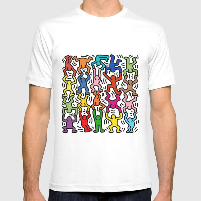 Homage to Keith Haring Acrobats II T-shirt