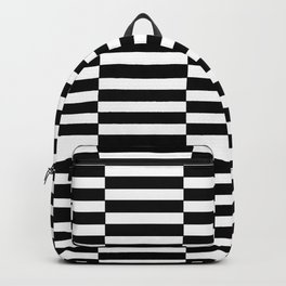 Strips - black and white. Backpack