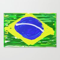 brasil Canvas Prints featuring BRASIL by Fabiano ART