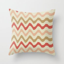 Stripes and waves trend Throw Pillow