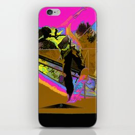 The Lift-Off - Skateboarder iPhone Skin