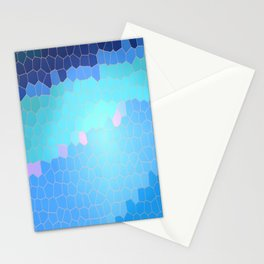 Waves Stained Glass Pixel Graphic Stationery Cards