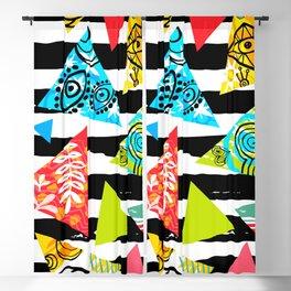 Tropical Hot Seamless Patterns XI Blackout Curtain