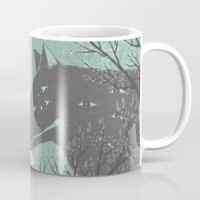 wolves Mugs featuring Wolves by Kelsey King Illustration
