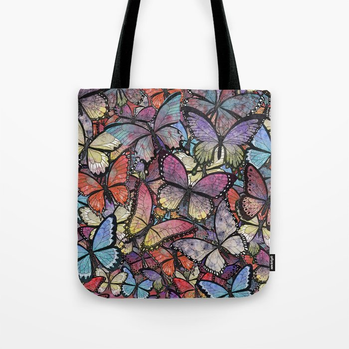 butterflies aflutter colorful version Tote Bag