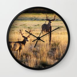 Crowheart muleys Wall Clock