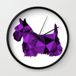 Geo Scottie - Purple Wall Clock