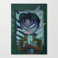 levi Canvas Prints featuring Grumpy Levi by BomberBee