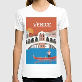 Venice, Italy - Skyline Illustration by Loose Petals T-shirt