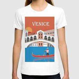 Venice, Italy - Skyline Illustration by Loose Petals T-shirt