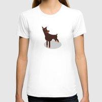 doberman T-shirts featuring Doberman by Paul Turcanu