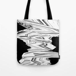 Glitch Zebra Tote Bag