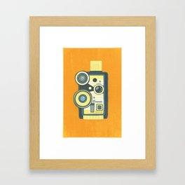 Blue Vintage Camera Framed Art Print