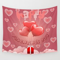 Happy Valentine´s day Wall Tapestry