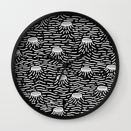 Dark Moon Surface Wall Clock