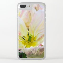 Tulip Petals Clear iPhone Case