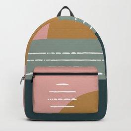Hand drawn Geometric Line Pattern VII Backpack