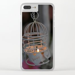 Love candle light Clear iPhone Case