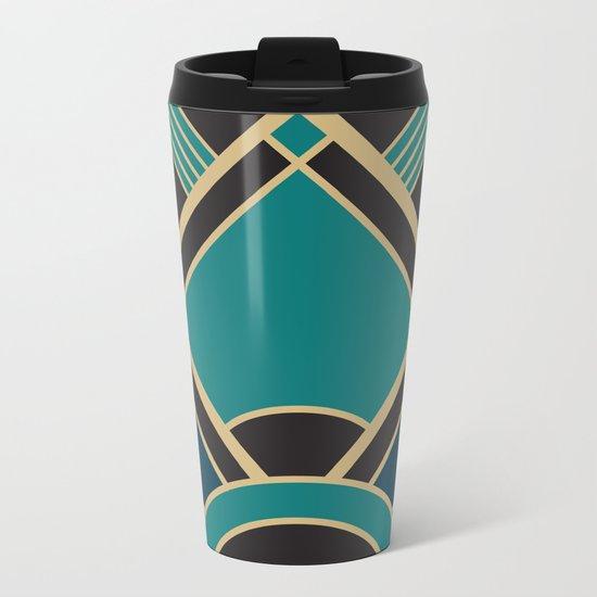 Art Deco New Tomorrow In Turquoise Metal Travel Mug