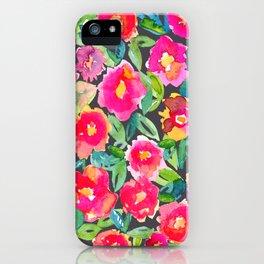 Hot floral mess - Dark iPhone Case
