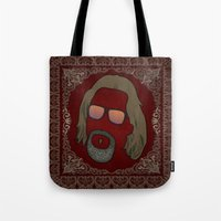 the dude Tote Bags featuring Dude by DE.FE.