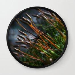 Fire Moss Wall Clock
