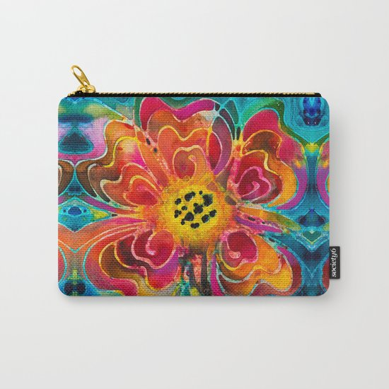 Summer Love Flower Art By Sharon Cummings Carry-All Pouch