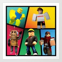 Roblox heroes Art Print