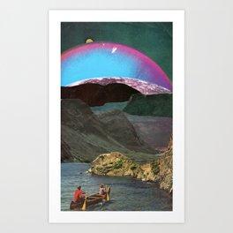 Canoes Art Print