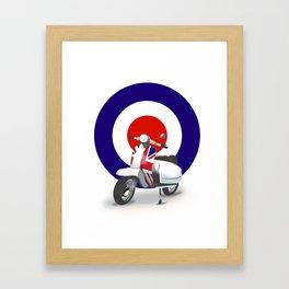Mod Moped poster Framed Art Print