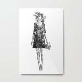 Dissolved girl  Metal Print