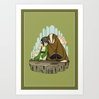 Toph and the Badgermole Art Print
